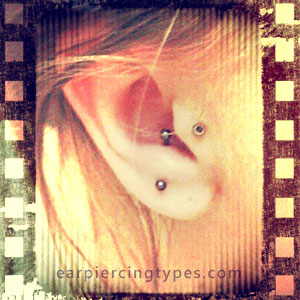 anti-tragus curved barbell