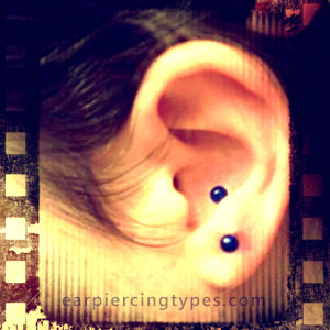 Single Antitragus Piercing