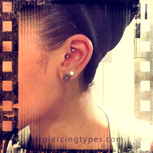 curved barbell Daithear piercing
