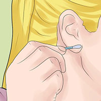 remove excess with a cotton swab
