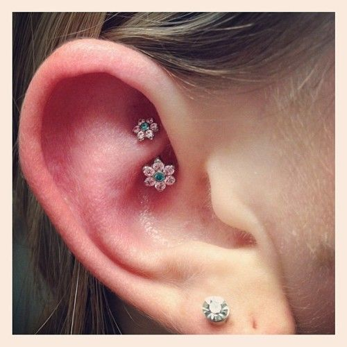 Rook ear piercing is made on the protrusion (anti-helix) of the cartilage between the outer and inner parts of the ear.