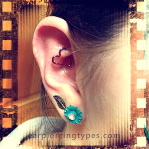 heart rook ear piercing