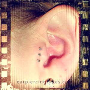 multiple tragus piercing