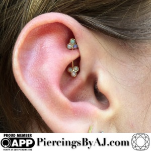 ideas of the Rook ear piercing