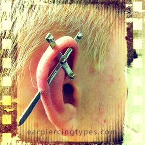 Industrial ear piercing history