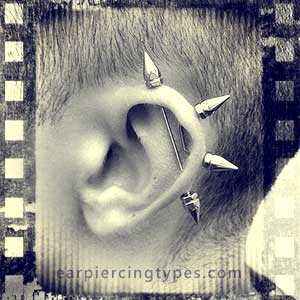jewelry used for an industrial ear piercing