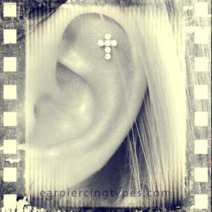 Single Outer Conch ear piercing