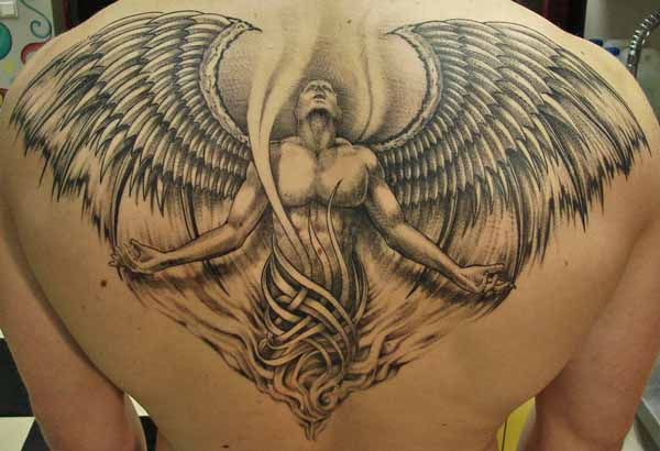 10 Best Angel Tattoo ideas for artists and musicians 5