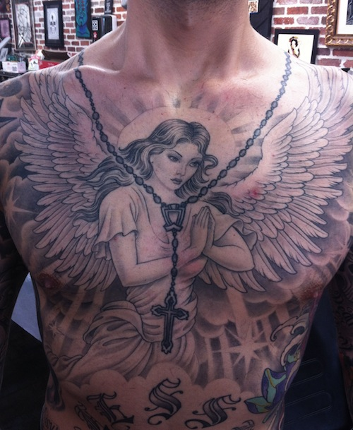 10 Best Angel Tattoo ideas for artists and musicians 10