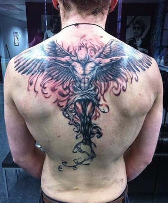 5 top coolest angel tattos on back for men 2