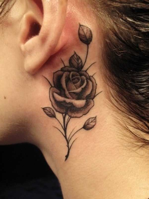Sides of neck tattoo 5