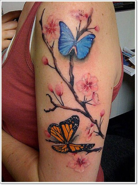 Butterfly Arm tattoo ideas for women 5