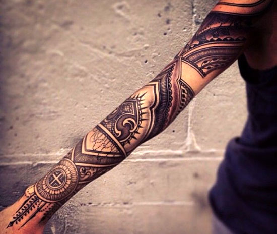Best Tribal Arm Tattoo Ideas for women 3
